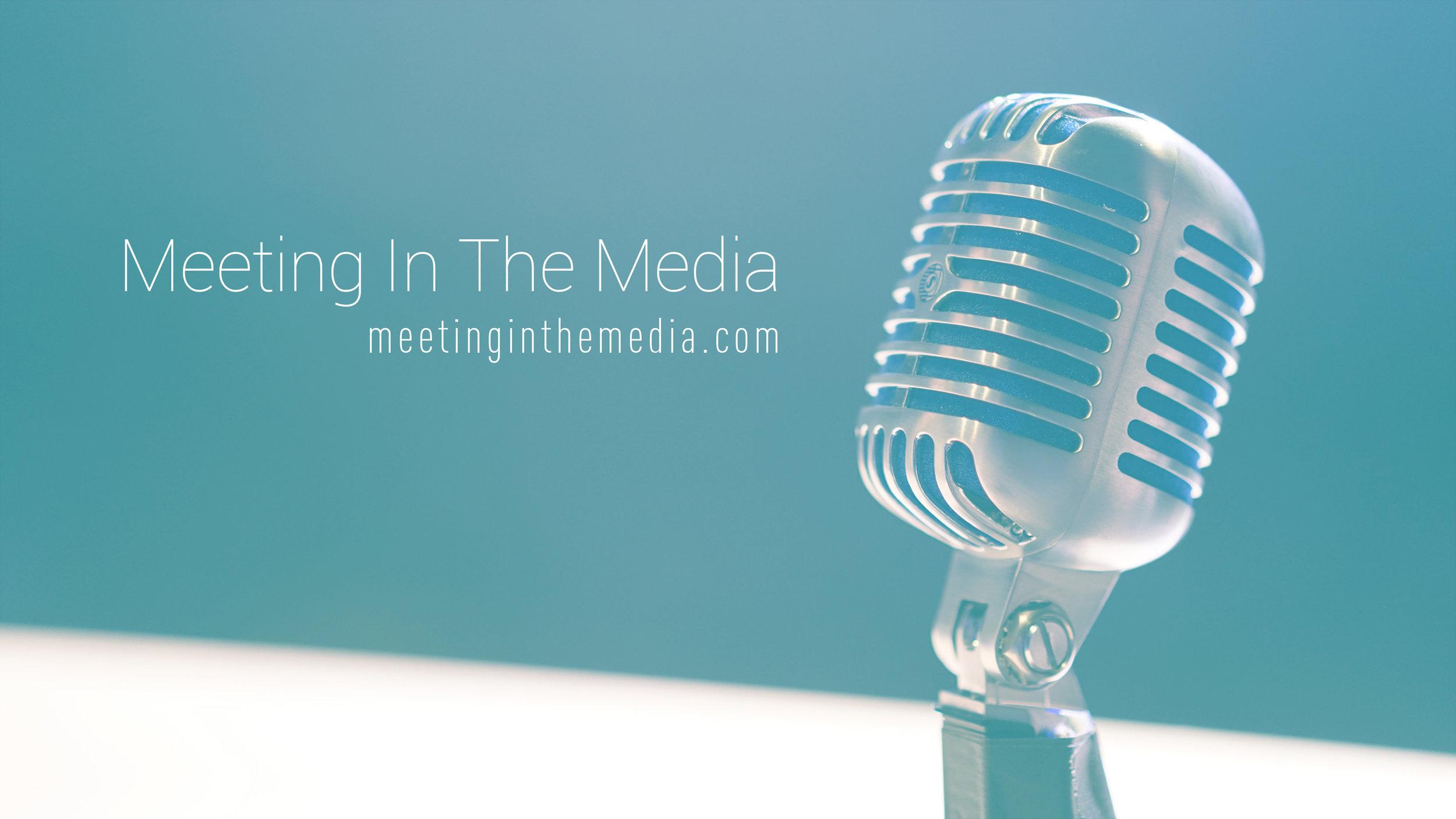 Meeting in the Media (@meetinginthemedia) branding multimedia work by Geena Matuson (@geenamatuson).