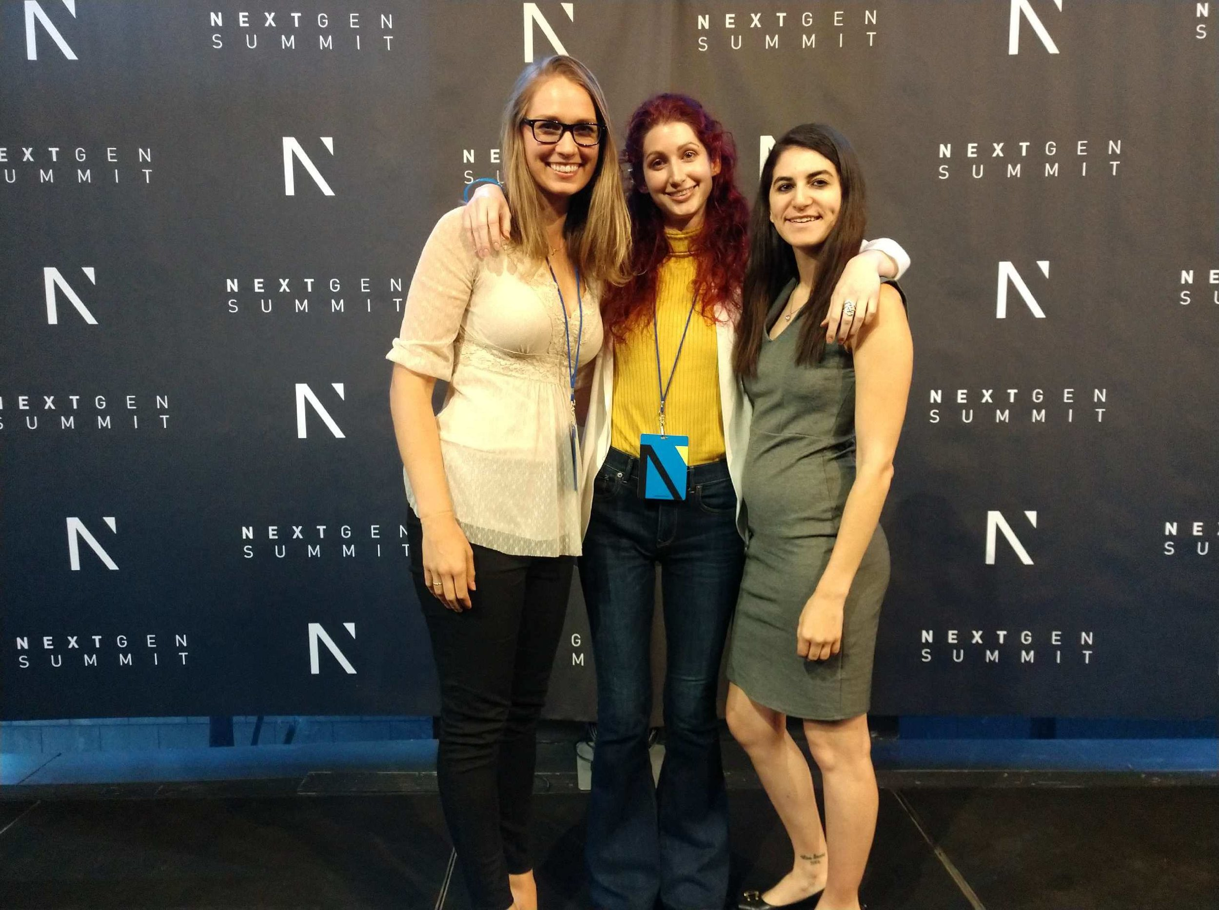 Cassandra Green of CoachCrate with Geena Matuson (@geenamatuson) and Mallory Rothstein of Learn What Matters Foundation at the June, 2019 Next Gen Summit #NGS2019 in NYC.