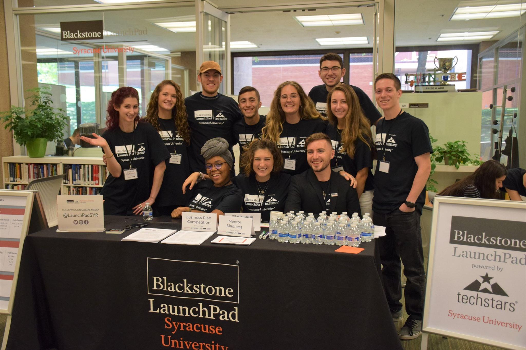 Techstars Startup Weekend with the Syracuse University Blackstone LaunchPad in 2019 with fellows and mentors including Geena Matuson (@geenamatuson) with Jaclyn Hingre, Patrick Prioletti, Victoria Lawson, Nick Barba, Emma Rothman, Audrey Miller, Sam Holland, Alexandra Cianfarani, Dave Fox, and Matt Shumer of Visos VR.