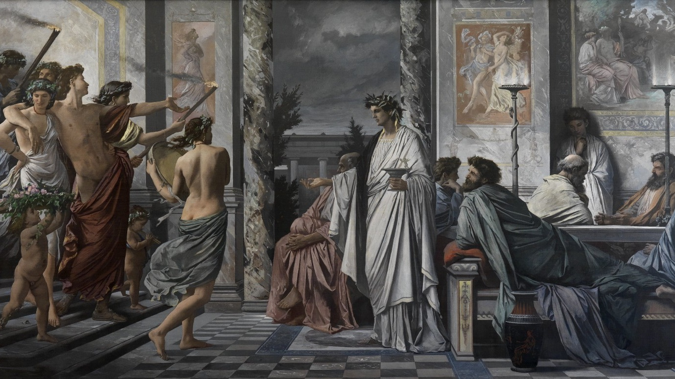 Plato's  Symposium , depicted by Anselm Feuerbach