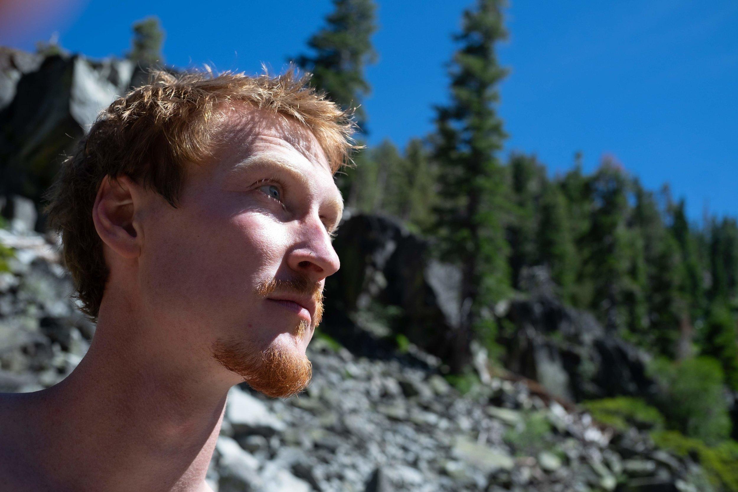 Luen, Dry Farm Wines Wine Director, taking time in Nature near Lake Tahoe, CA
