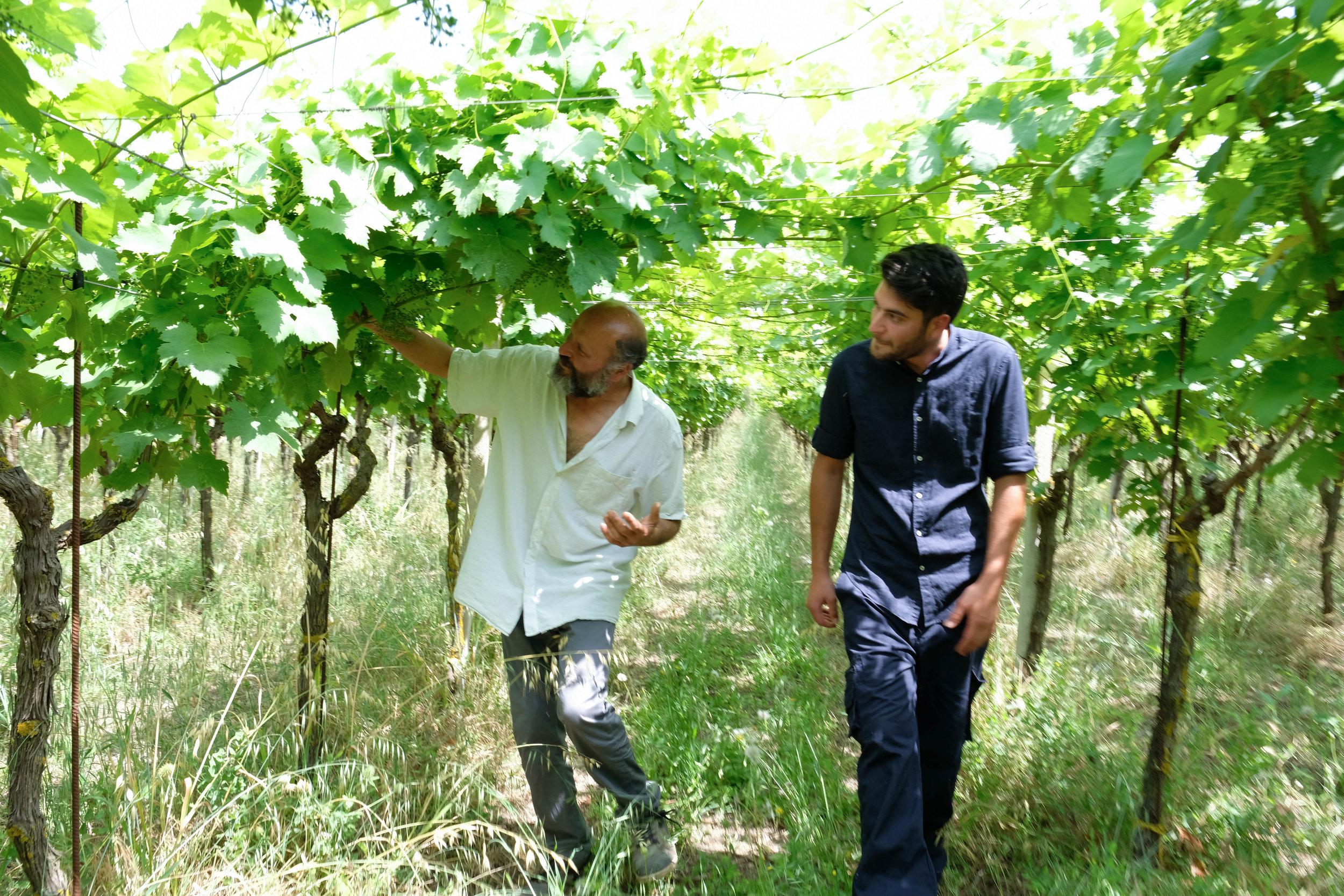 Valentino with son, Domenico