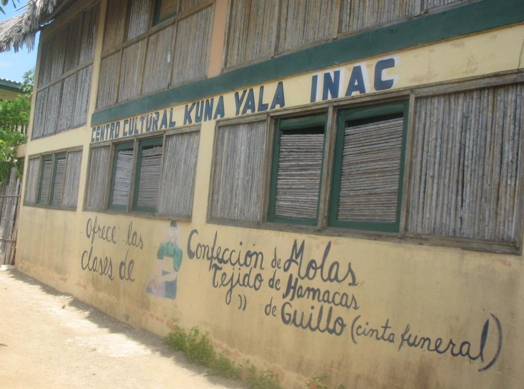 Fotografía del Centro Cultural del INAC en Ailigandi, enero 2010, autor: Cebaldo de León