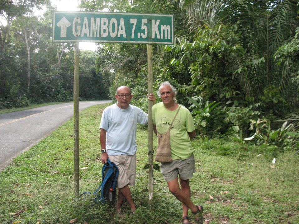 Jorge y yo, en dias en que regreso a la Casa Grande (Panamá) y Gamboa es siempre un abrazo
