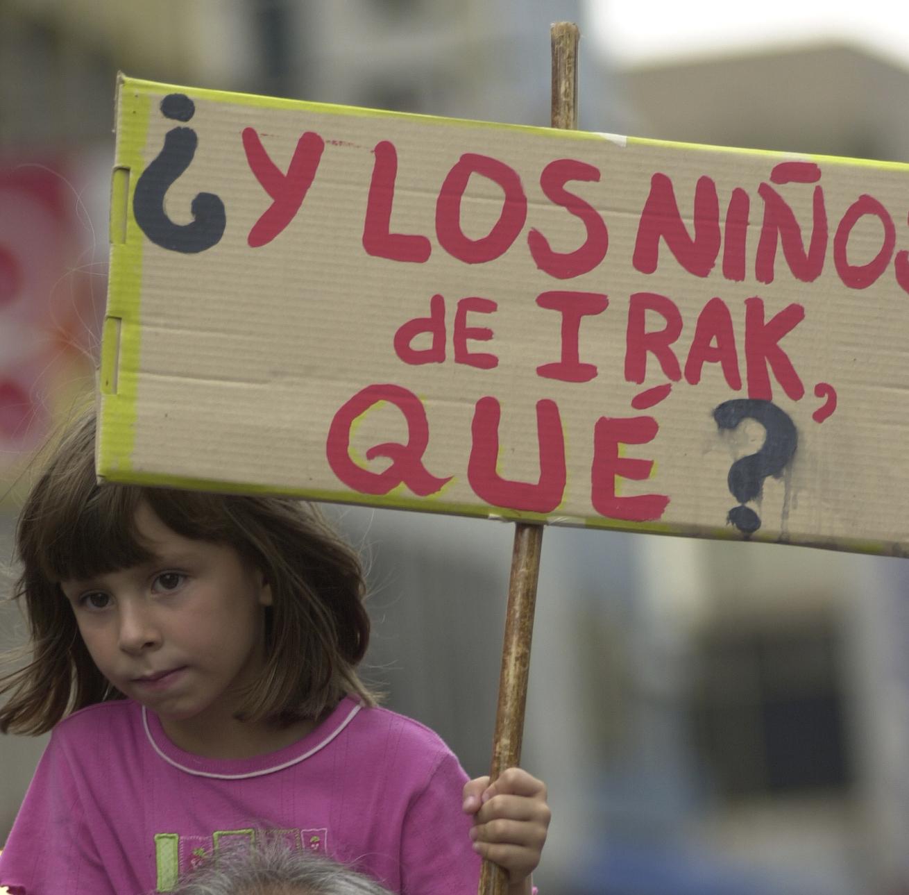 marcha contra la invasioìn de Irak
