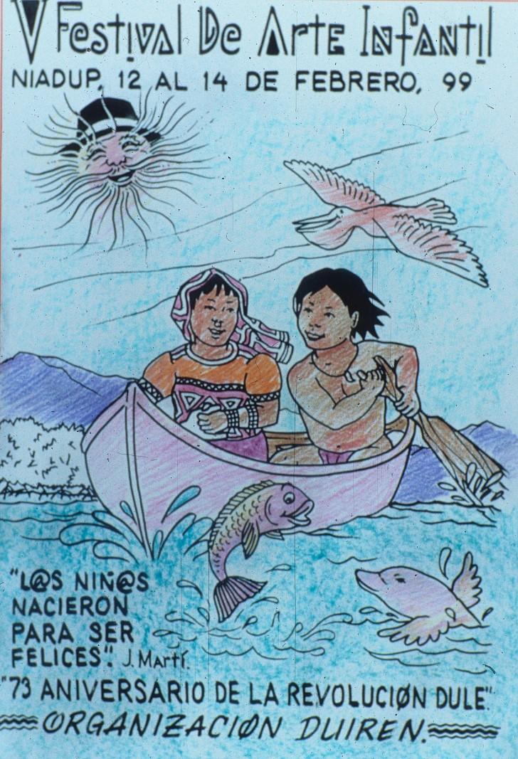 """""""…Busquemos a sus autores, hoy ya adultos, en Ailigandi, Playón, Sugdup, para que se asomen y se vean de niños en el espejo de sus dibujos…"""""""