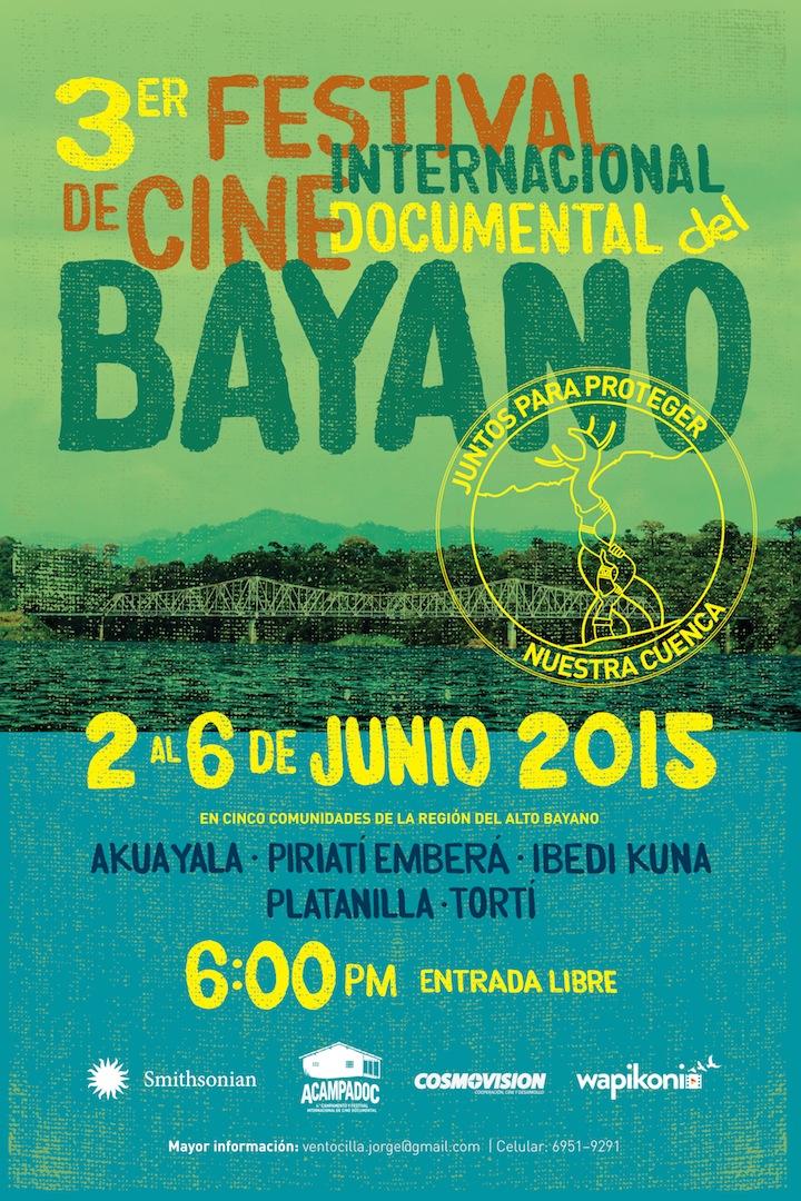 Poster del 3er Festival de Cine International Documental Bayano
