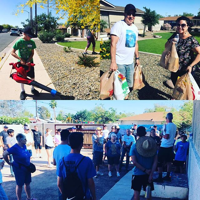 So thankful for all the volunteers who took time to help us love our neighbors during Saturday Service Day.  Your time, smiles & generous hearts are the fuel behind our mission.  #actlove #speaklove #livelove #changetheworld