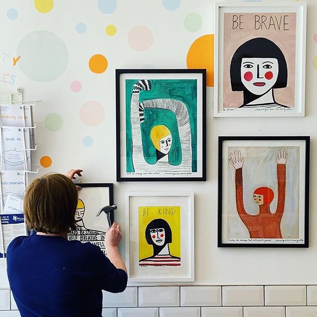 I adore the art of @margoinmargate and her wonderful work is currently exhibiting @revival_whitstable ⠀⠀⠀⠀⠀⠀⠀⠀⠀ The exhibition is part of Mental Health Awareness Week and 25% of all sales with be donated to mind@Revival ⠀⠀⠀⠀⠀⠀⠀⠀⠀ There's a few more days left, so go have yourself a look! ⠀⠀⠀⠀⠀⠀⠀⠀⠀ #margoinmargate #wellbeing #mind #revival #goodmentalhealth #mentalhealth #mentalhealthawareness  #mentalhealthawarenessweek #bekind #bebrave #instaart #instaartist #margate #whitstable #kent #creativity