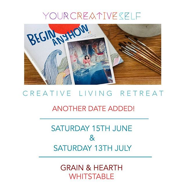 EXTRA DATE ADDED! ⠀⠀⠀⠀⠀⠀⠀⠀⠀ I've added another Creative Living Retreat date! ⠀⠀⠀⠀⠀⠀⠀⠀⠀ You can now choose from: ⠀⠀⠀⠀⠀⠀⠀⠀⠀ Saturday 15th June. 5-8pm ⠀⠀⠀⠀⠀⠀⠀ &  Saturday 13th July 5-8pm ⠀⠀⠀⠀⠀⠀⠀⠀⠀ AND if you use code EARLYBIRD at checkout you will get £10 off the ticket price! Offer ends midnight Monday 20th May ⠀⠀⠀⠀⠀⠀⠀⠀⠀ For more information and to book go to Popular Links in profile. ⠀⠀ ⠀⠀⠀⠀⠀⠀⠀⠀⠀ ⠀⠀⠀⠀⠀⠀⠀ These events are being held at Whitstable's fabulous new bakery @grainandhearth and Artisan Baker @season_adam will be providing light bites and sweet treats for us. ⠀⠀⠀⠀⠀⠀⠀⠀⠀ ⠀⠀⠀⠀⠀⠀⠀⠀⠀ There will be Prosecco & non-alcoholic fizz ⠀⠀⠀⠀⠀⠀⠀⠀⠀ There will be laughter, discussion and creativity! ⠀⠀⠀⠀⠀⠀⠀⠀⠀ Join Us! ⠀⠀⠀⠀⠀⠀⠀⠀⠀ ⠀⠀⠀⠀⠀⠀⠀⠀⠀ #Retreat #CreativeRetreat #whitstableRetreat #visitwhitstable #canterbury #Margate #creative #Inspiration #CreativeLiving #creativity #creative #creativelife #YourCreativeLife #YourCreativeSelf #TheCreativeSelf #motivate #inspire #creativityfound #creativitywellbeing #creativityforwellbeing #carveouttimeforcreativity #whitstablelife  #whitstablerocks #creativementor #creativityforadults  #artforadults #findcreativity #discovercreativity #whitstable #faversham