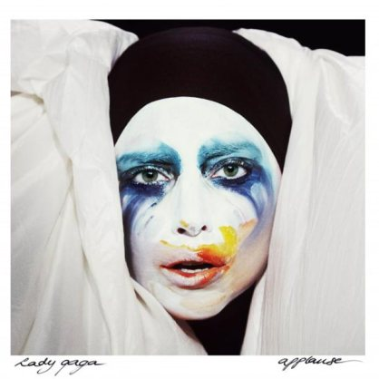 "Cover for single, ""Applause."""