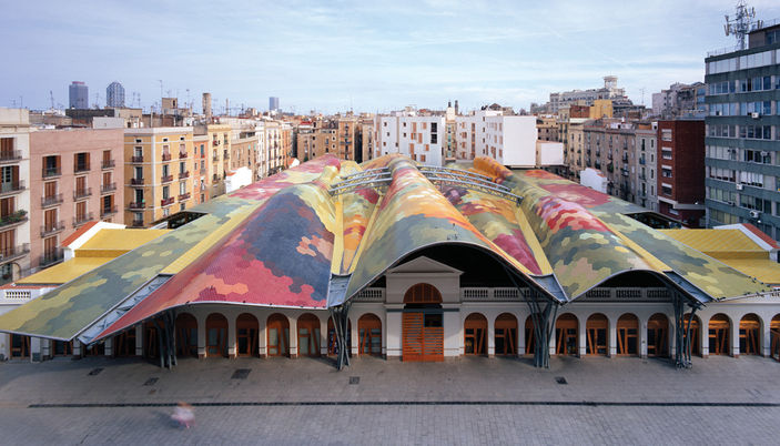 - Mercat Santa Caterina / Enric Miralles + Benedetta Tagliabue (EMBT) [Barcelona, Spain]