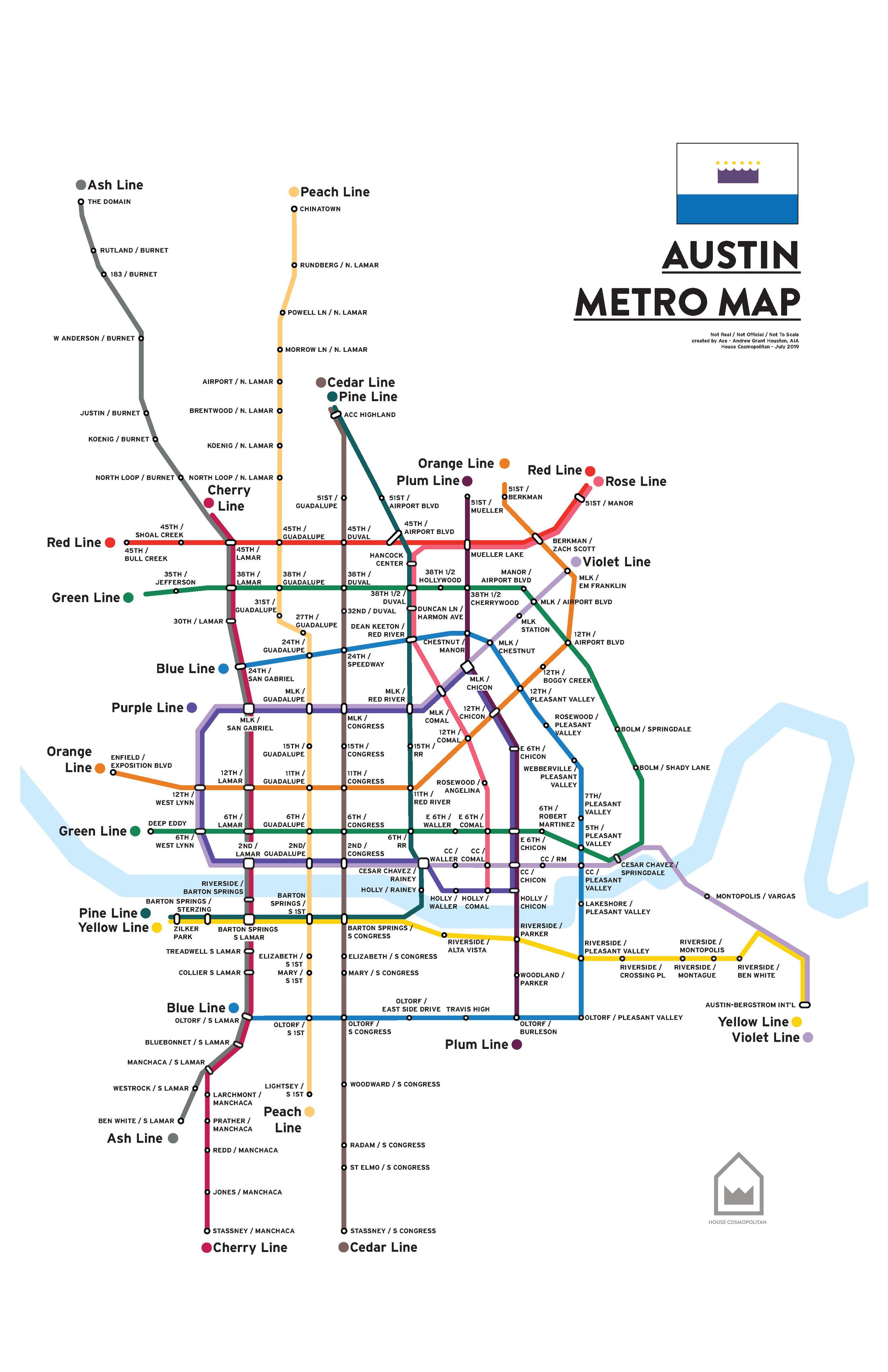 Austin Metro Map