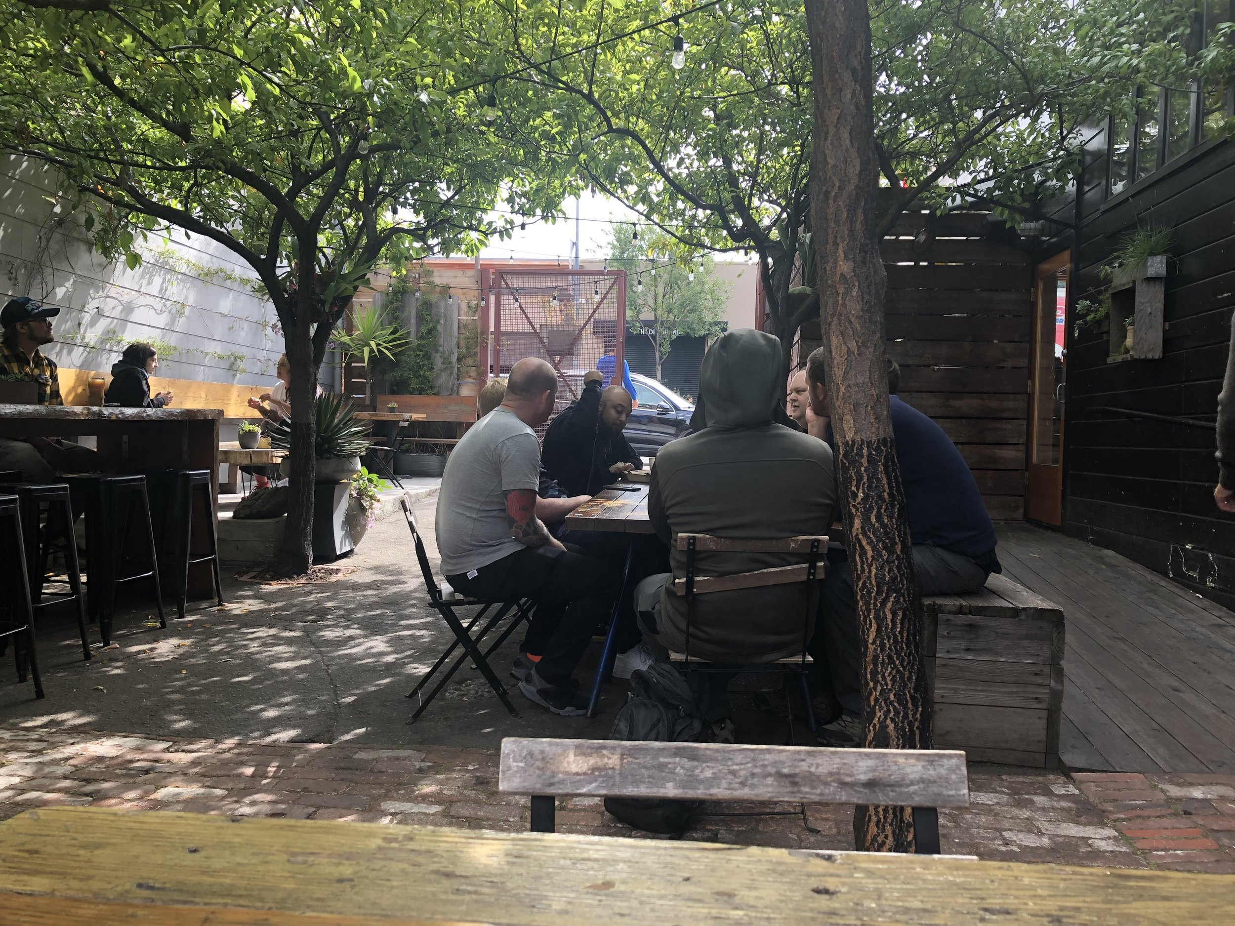 People hanging out at Stable Cafe