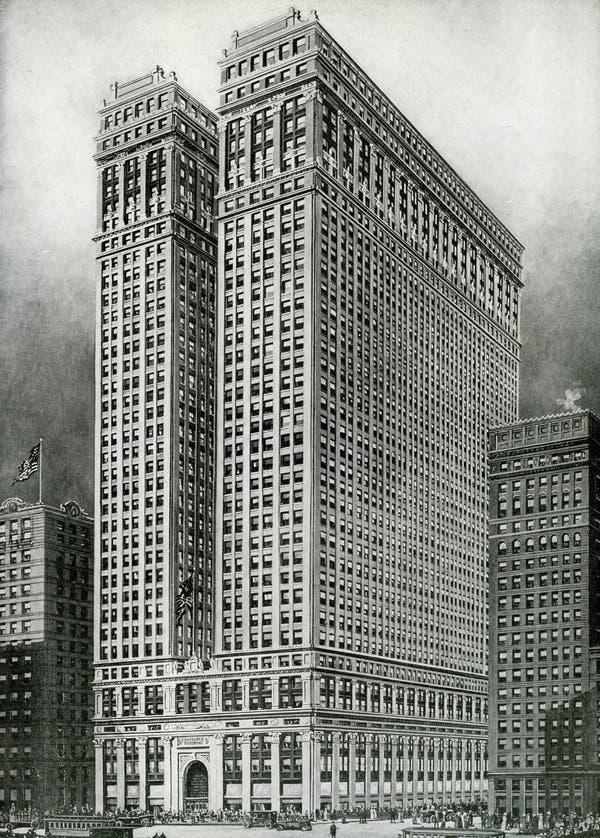 pre-zoning skyscraper in New York via  The New York Times