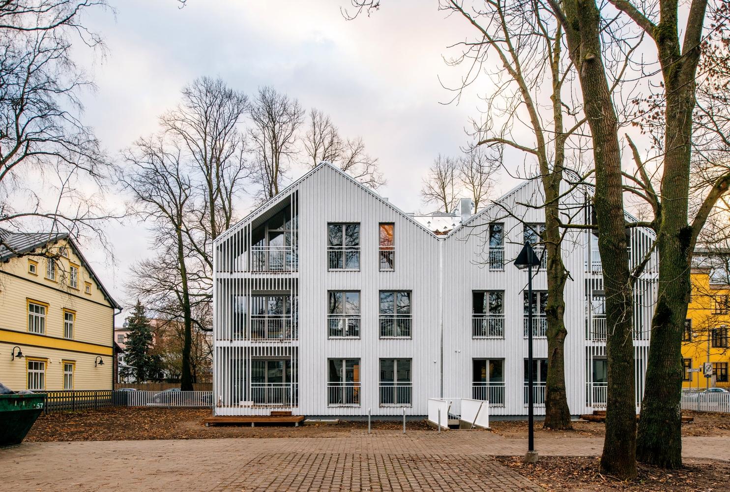 a 12-unit apartment building in Tallinn, Estonia via  ArchDaily