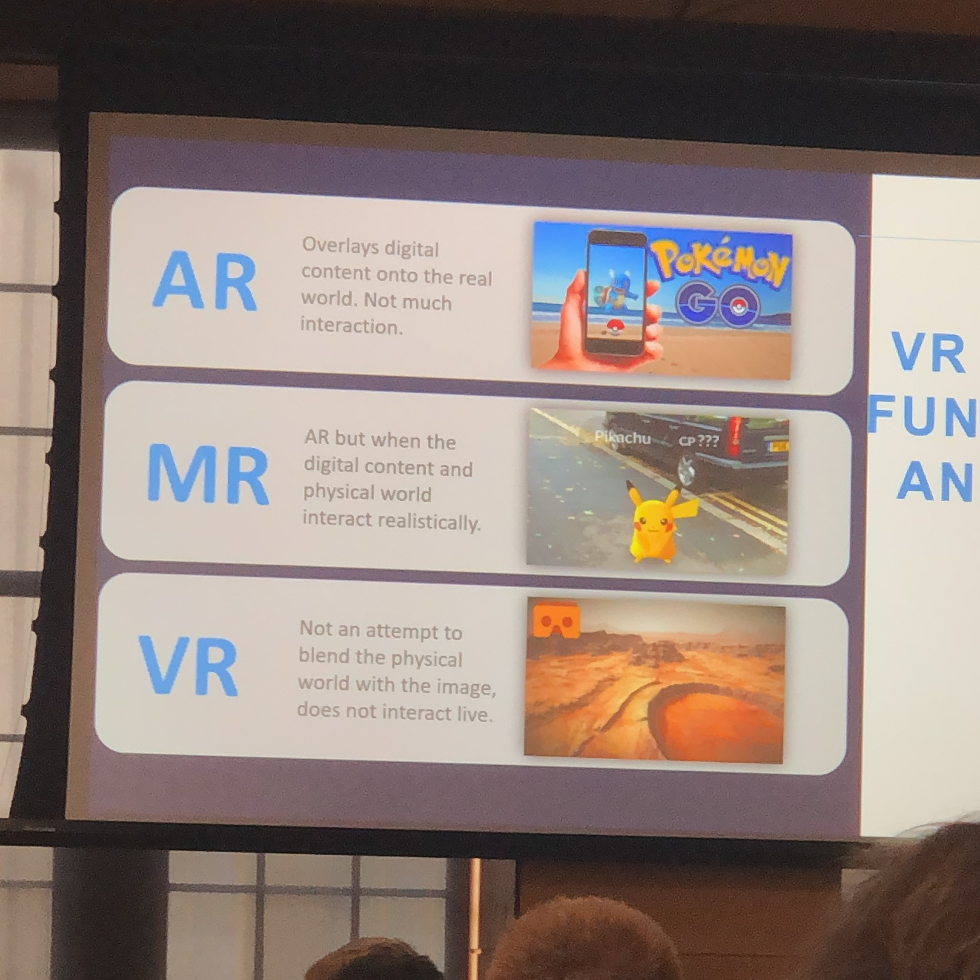 Pokemon GO reference during a presentation on VR by  Yulio .