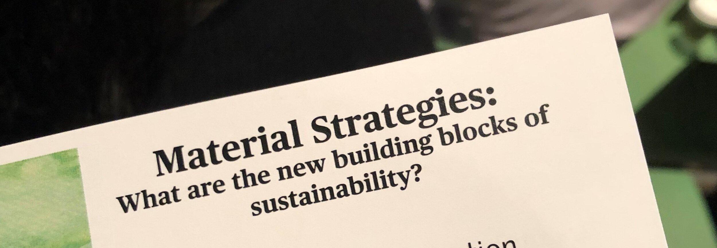 Material Strategies