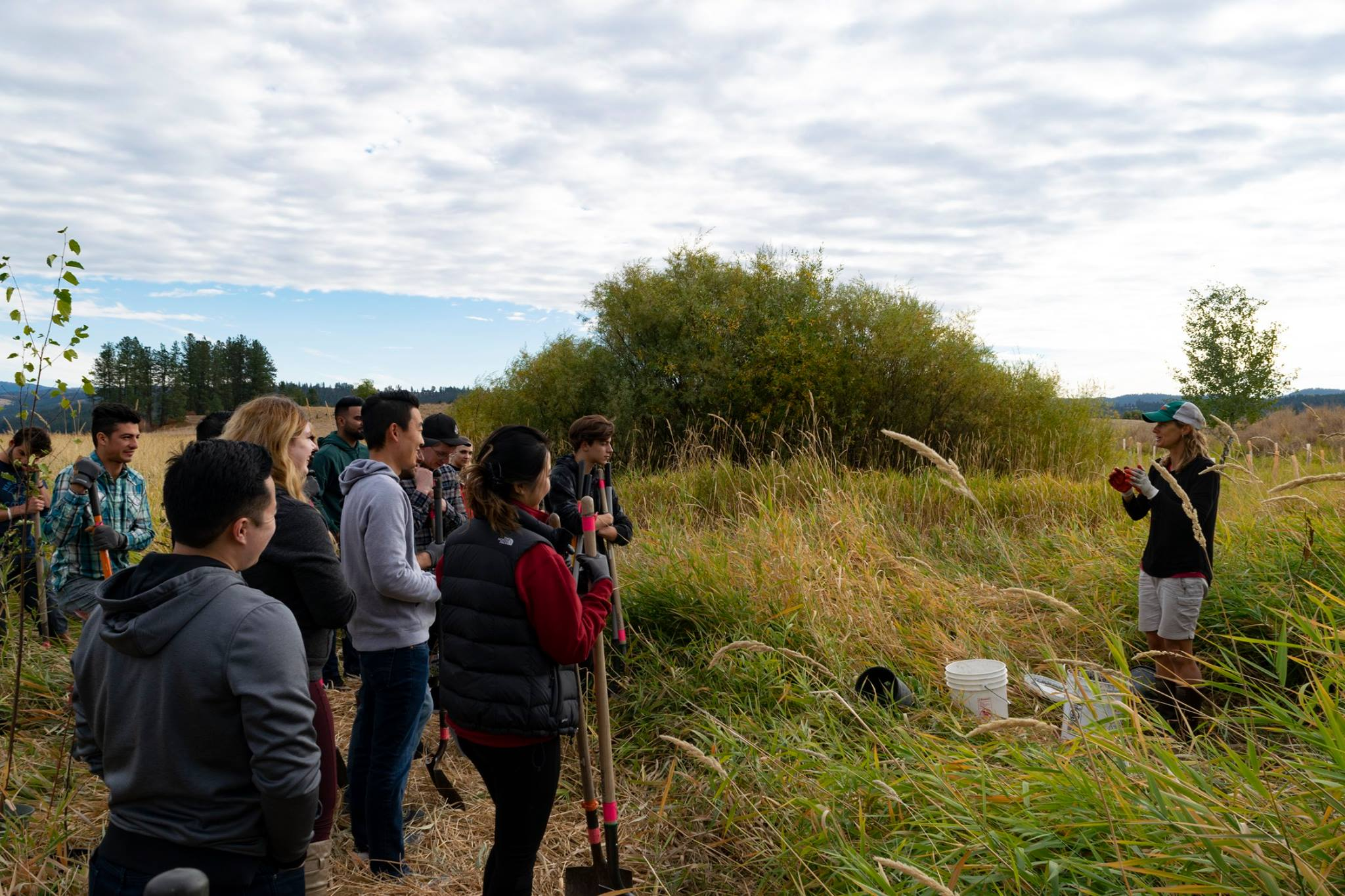 We work in local schools to get students outdoors and we educate them on the natural world, water quality, and resource issues. We also teach environmental literacy and job preparedness at the Geiger Correctional Facility.