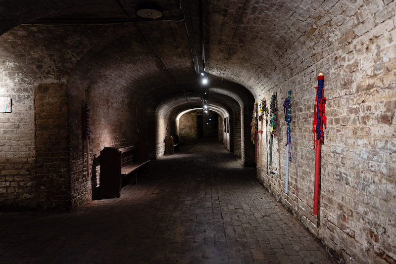 Crypt entrance. (Right) Elspeth Penfold - Walking with the Wasteland – Varas (2015 to 2019). Photo: Rikard Österlund