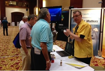 The Lorac Communications team in the Exhibit Hall.