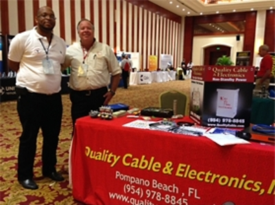Quality Cable & Electronics presents its products and services in the Exhibit Hall during the 2015 Annual Meeting.