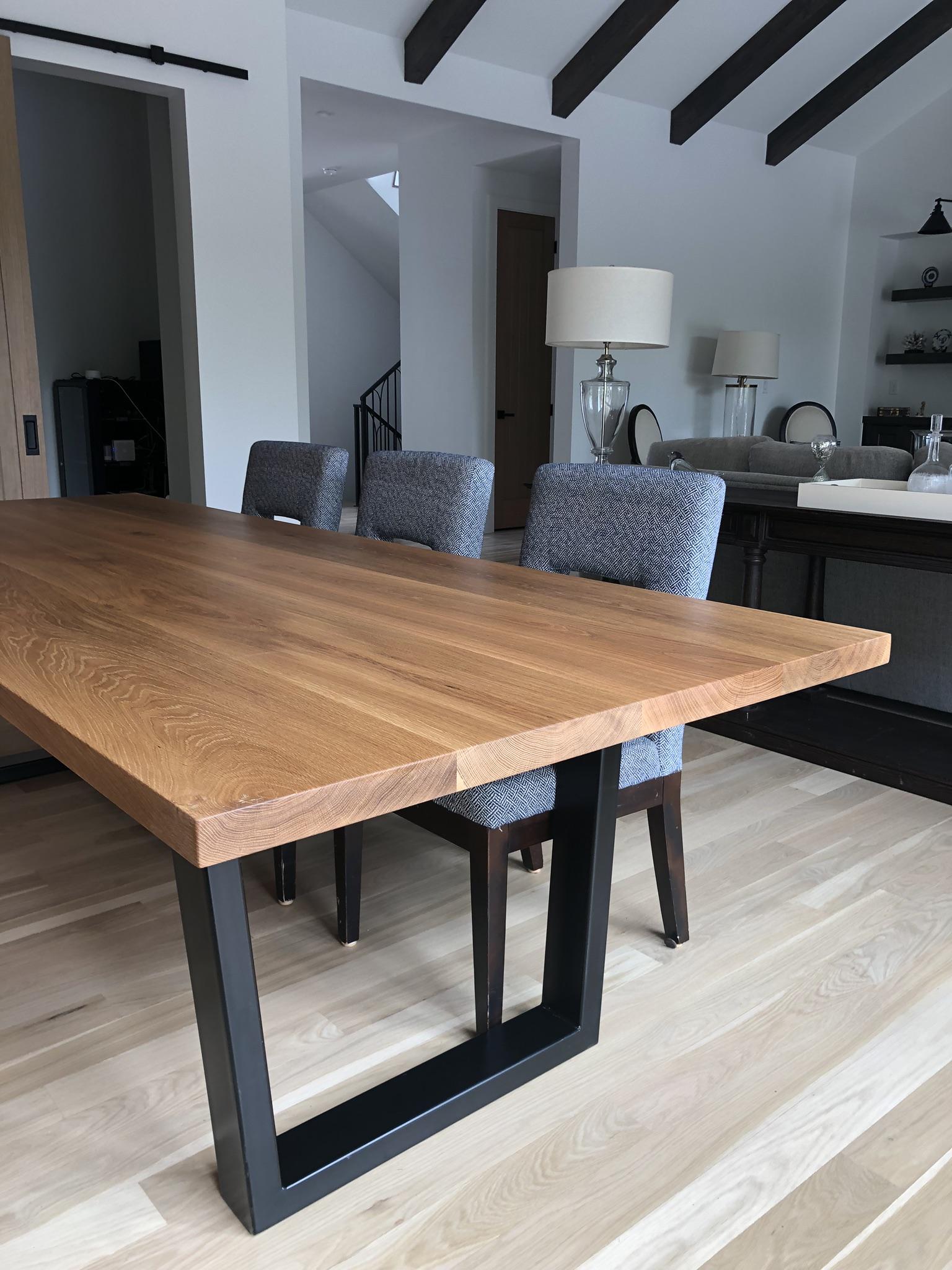 House of Alpine White Oak Dining Table Tapered Legs.jpg