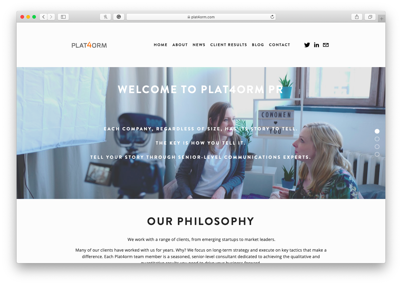 Plat4orm Home Page
