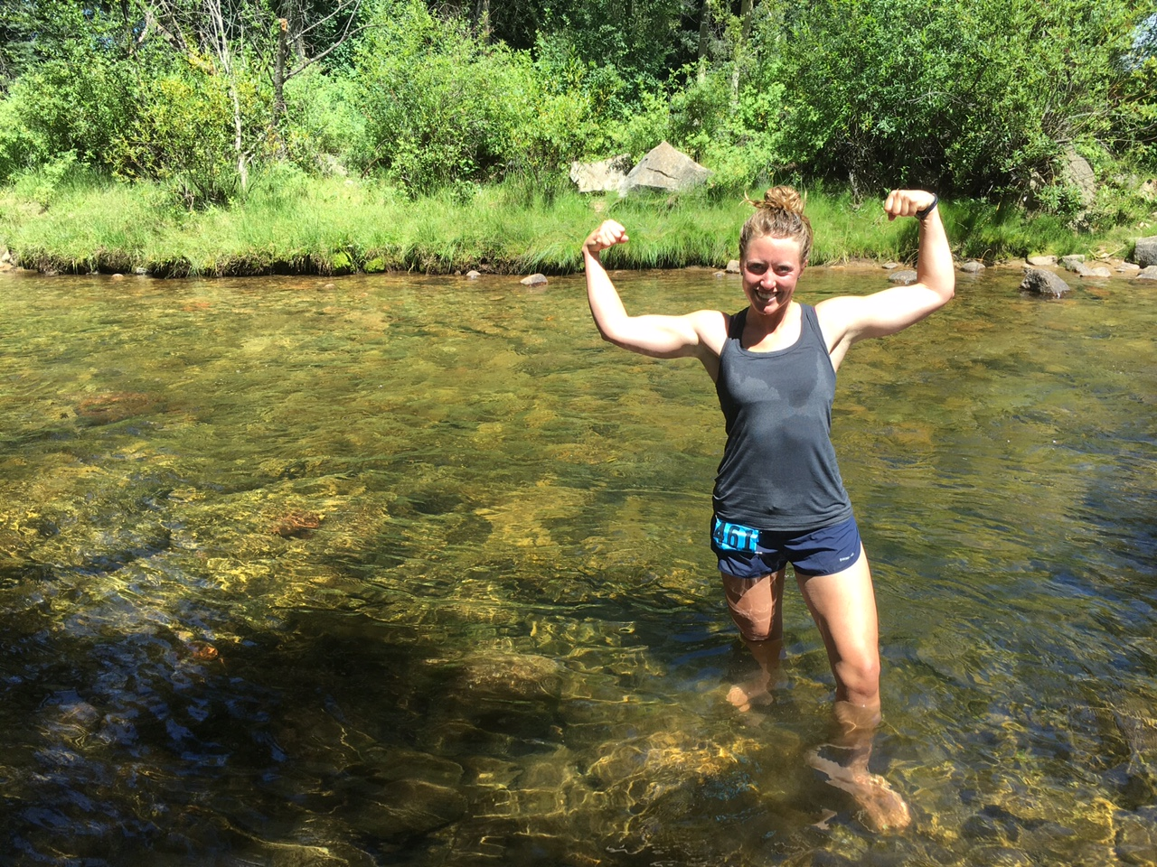 Post Half Marathon creek soak