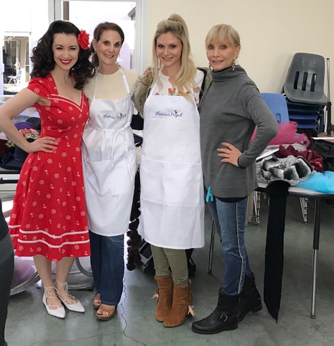 Gina Elise, founder of PinUps for Vets visits Glamour Project