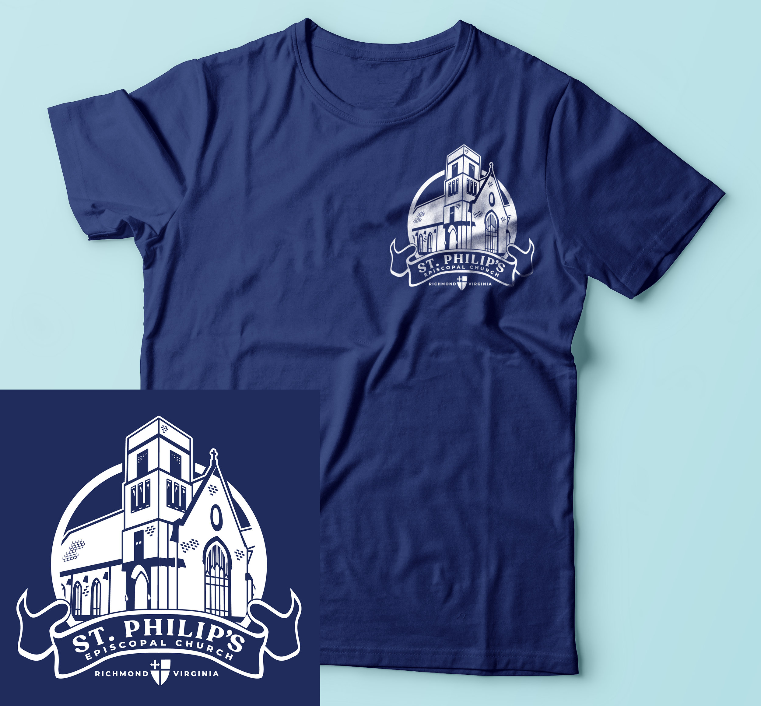 - My hometown church needed an updated design that members could wear for a few upcoming events and also to represent the church within the community and at conferences.
