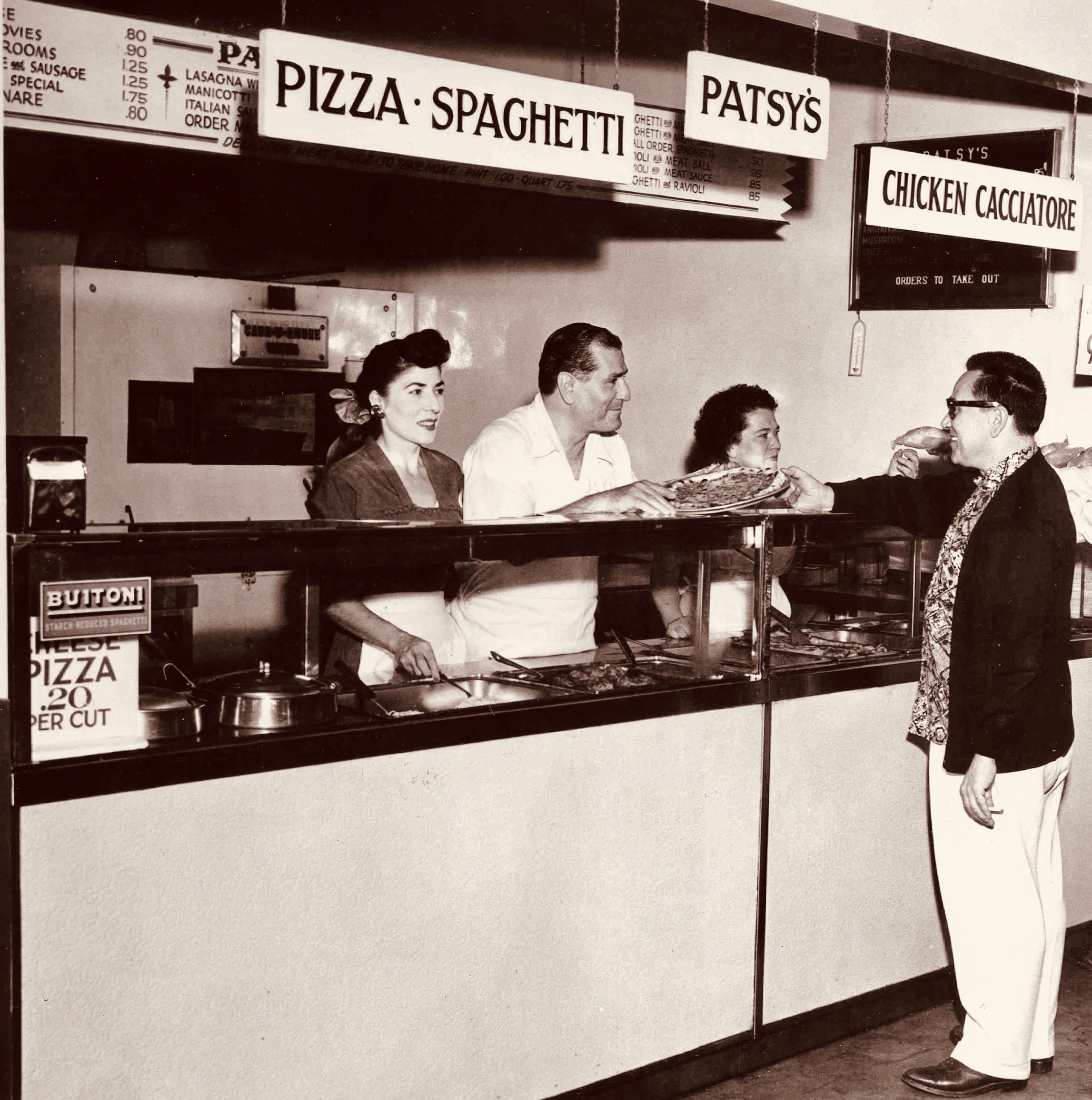 In 1949 when Patsy (Pasquale) opened the pizzeria, a cut of pizza (otherwise known as a slice) was .20 cents.