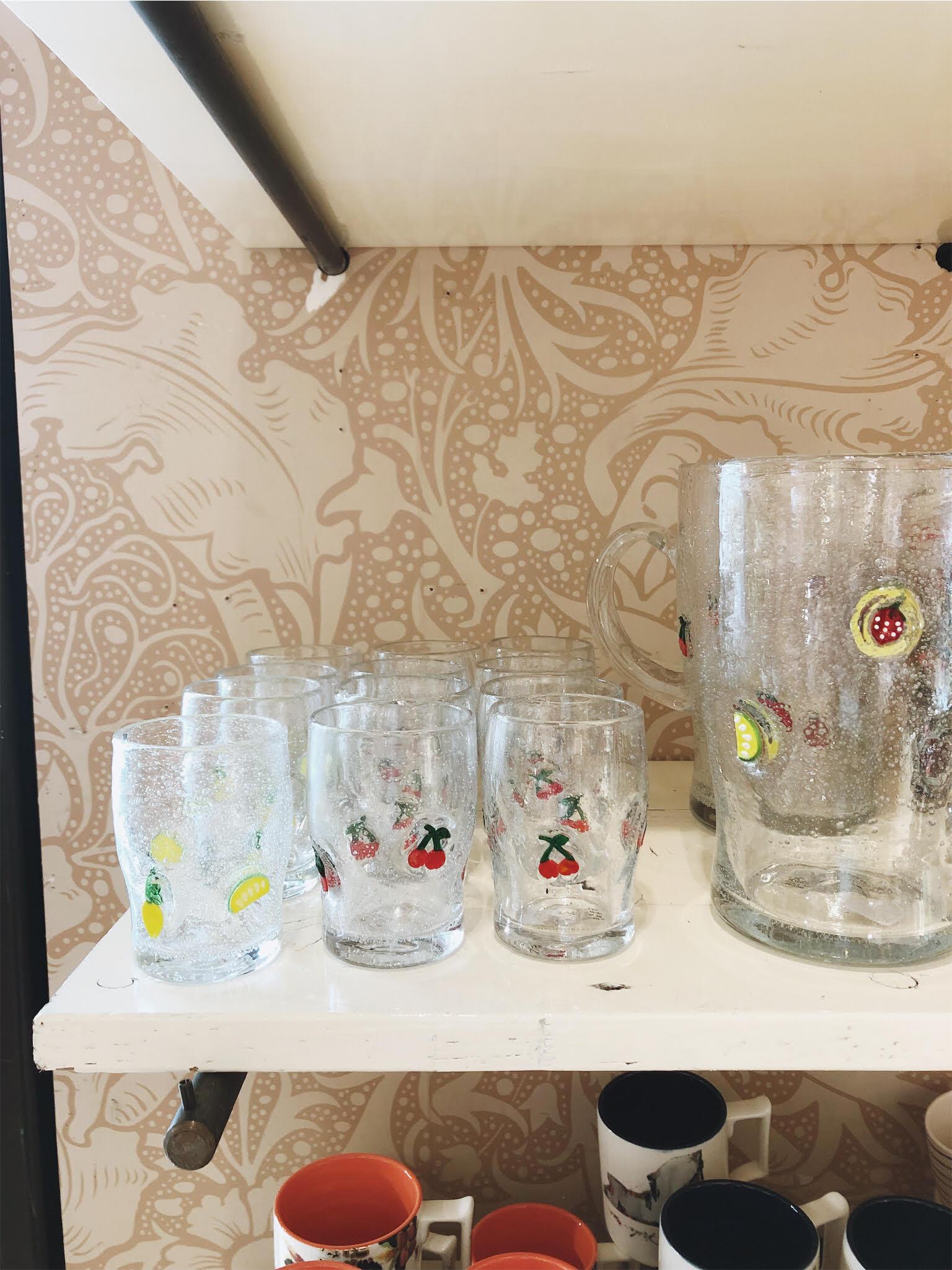 Anthro Juice Glasses