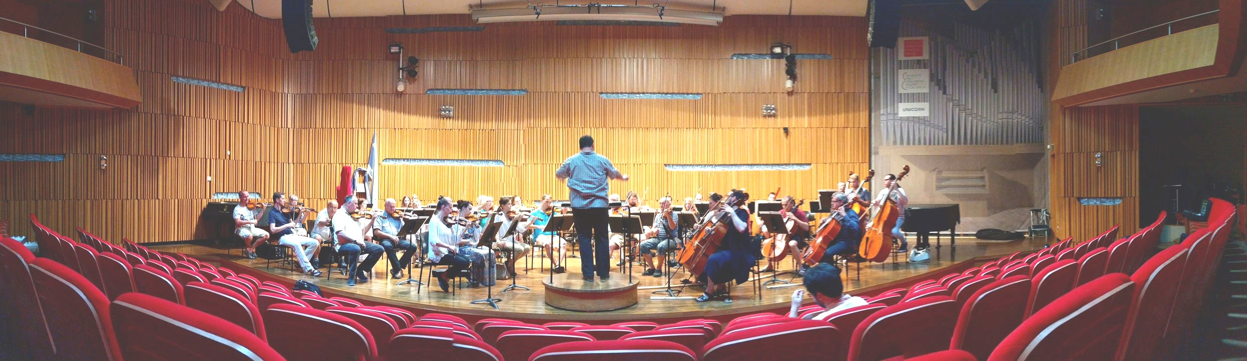 At the rehearsal with Prague Symphony Orchestra