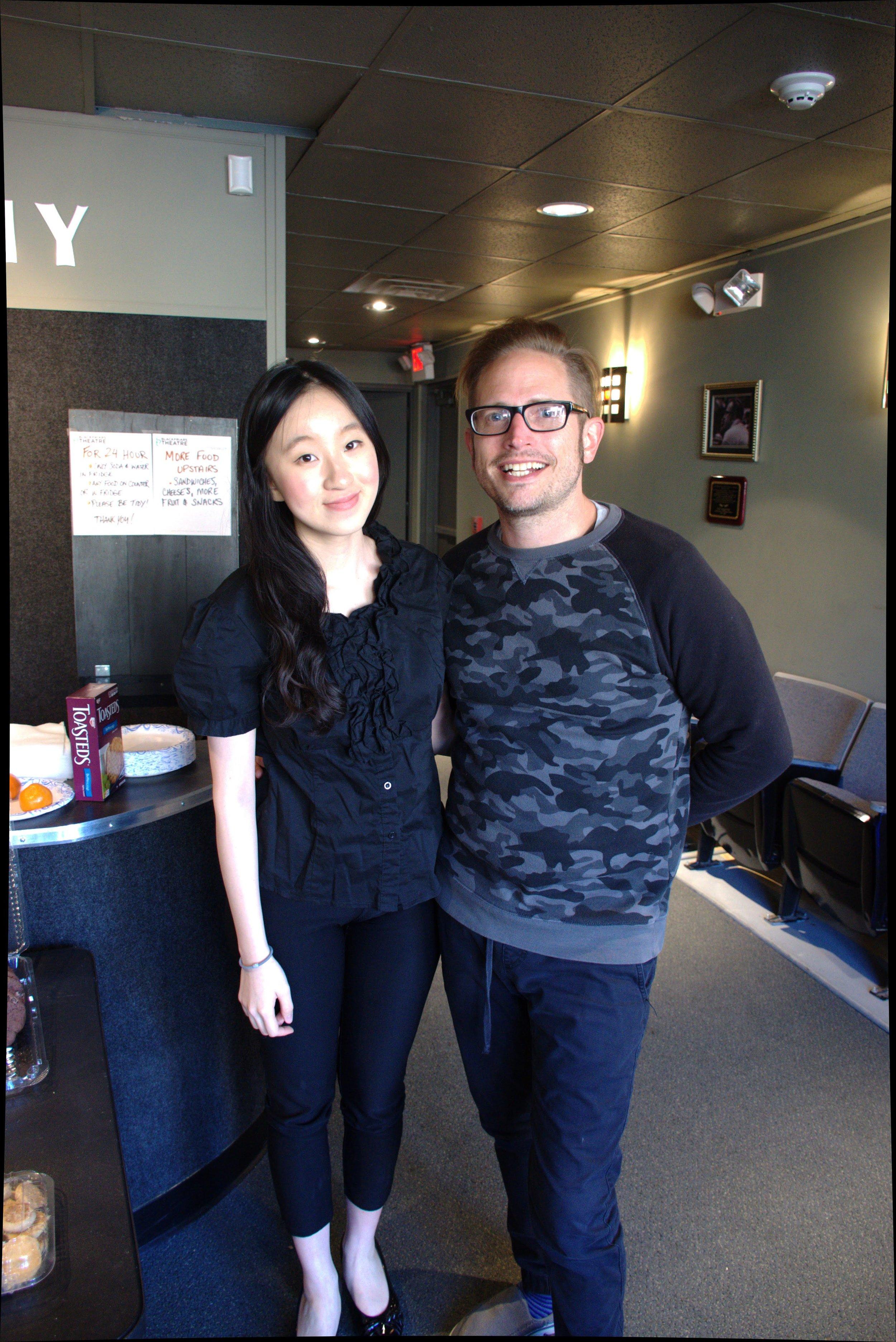With the lyricist, David Henderson