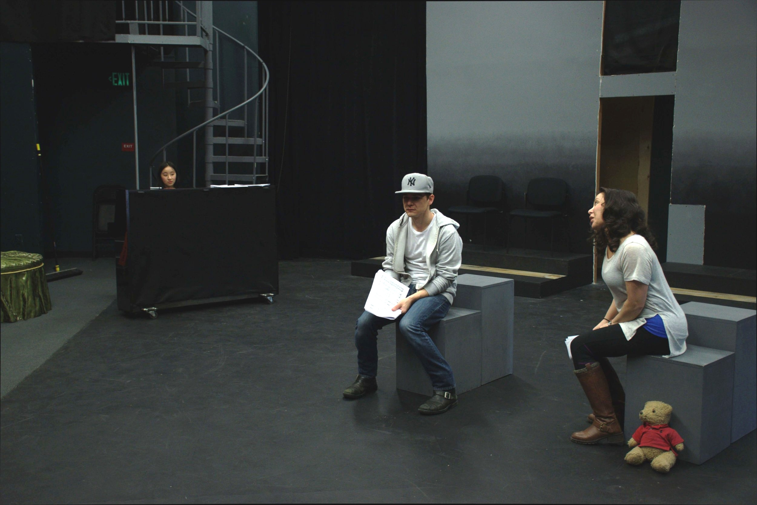 "At the rehearsal of ""Friends Imaginary"""