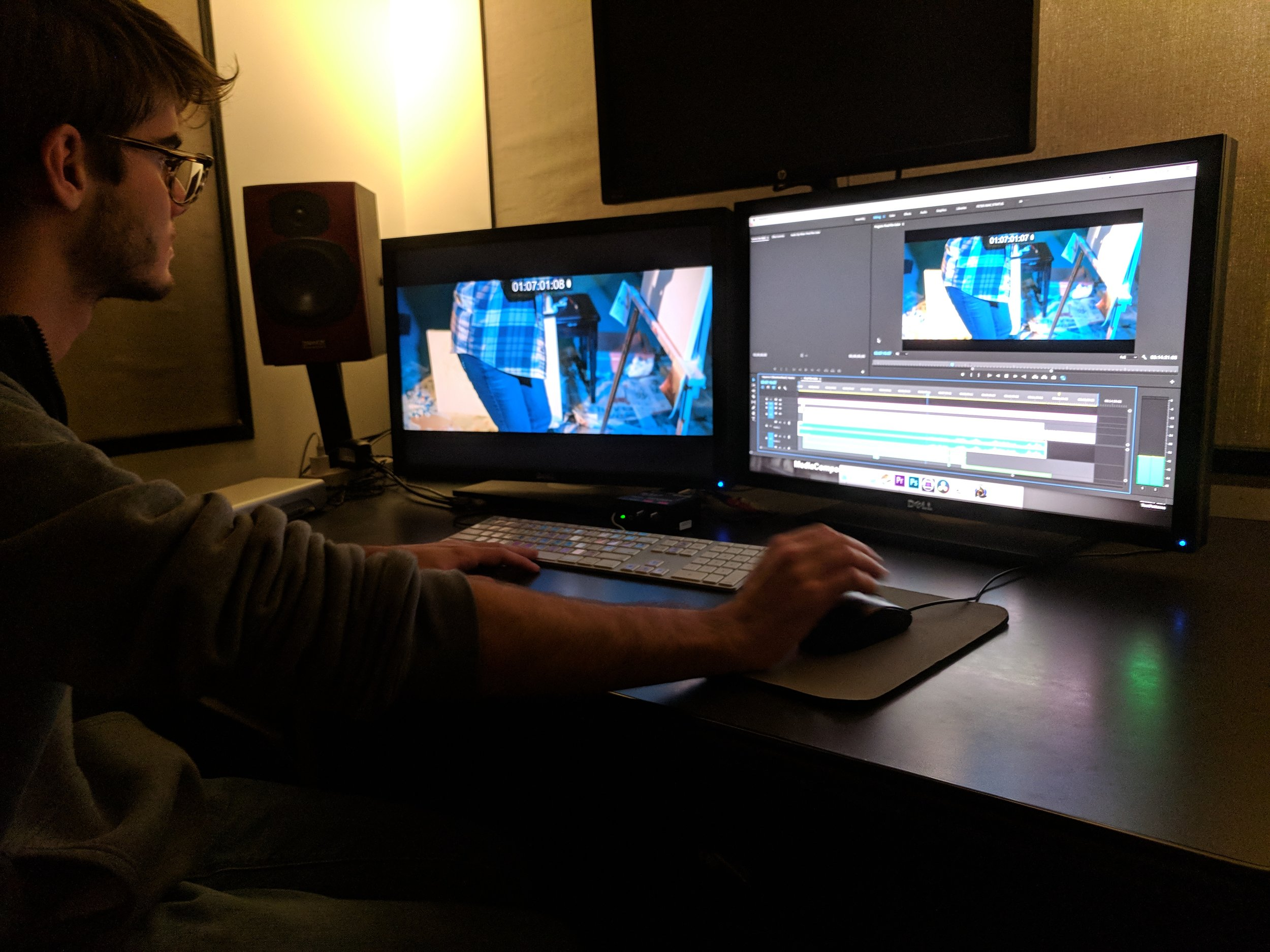 In post-production with Guilherme Pedra