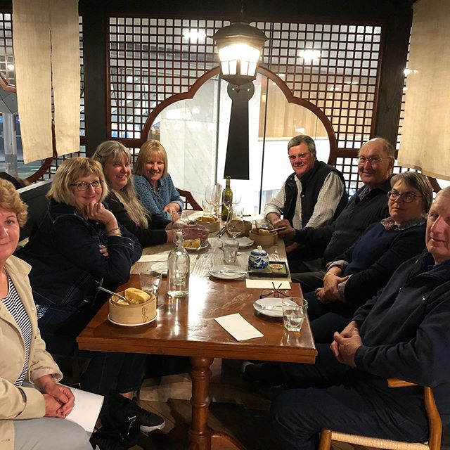 They came from Birdsville Track Marree South Australia with a town population of 90 people.  1 school, 1 2 bed hospital, 1 policeman.  10pct of their town came for dinner at Canton! Canton!  Such lovely people.