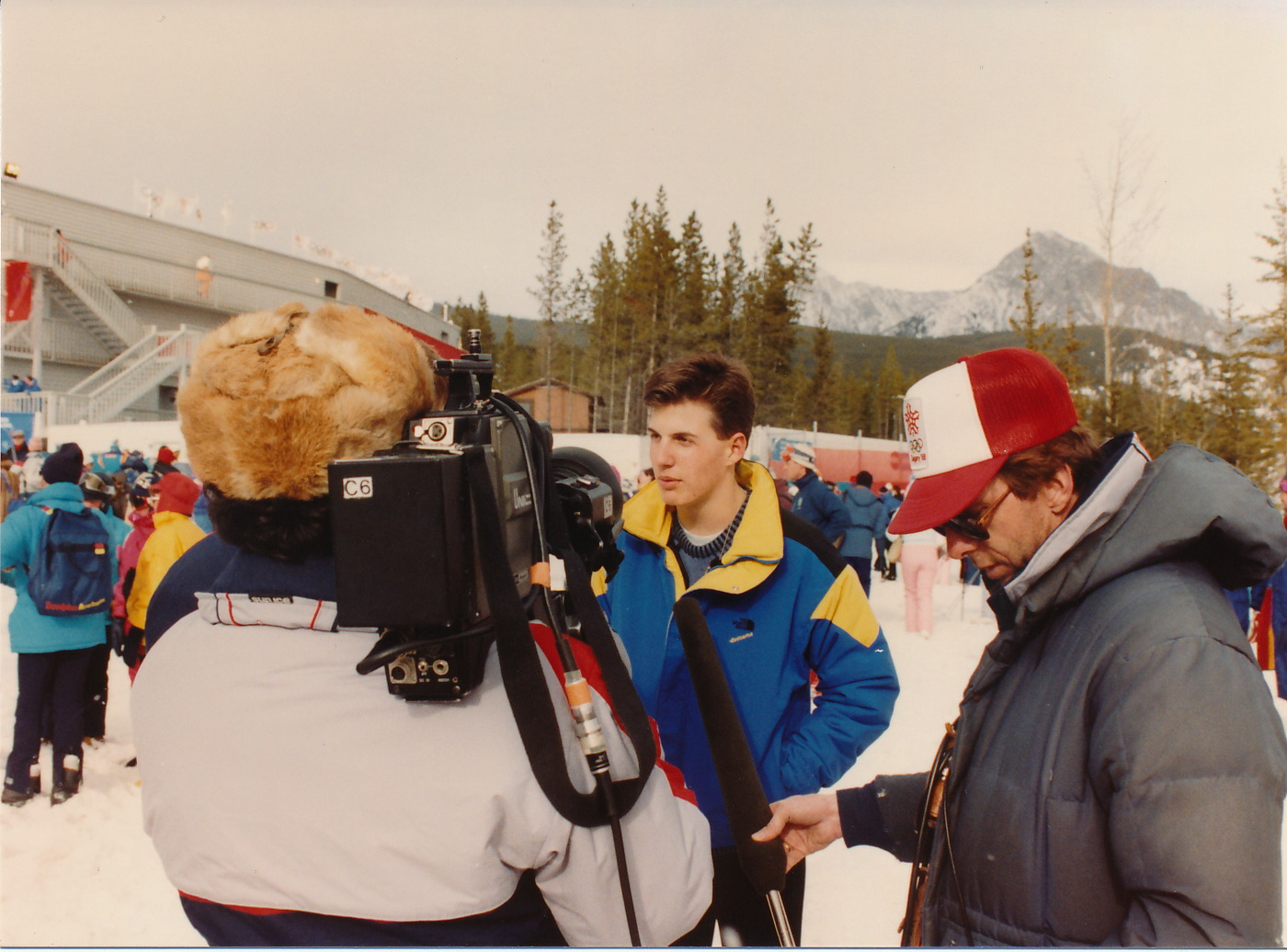 Jeff at the Calgary Winter Olympics