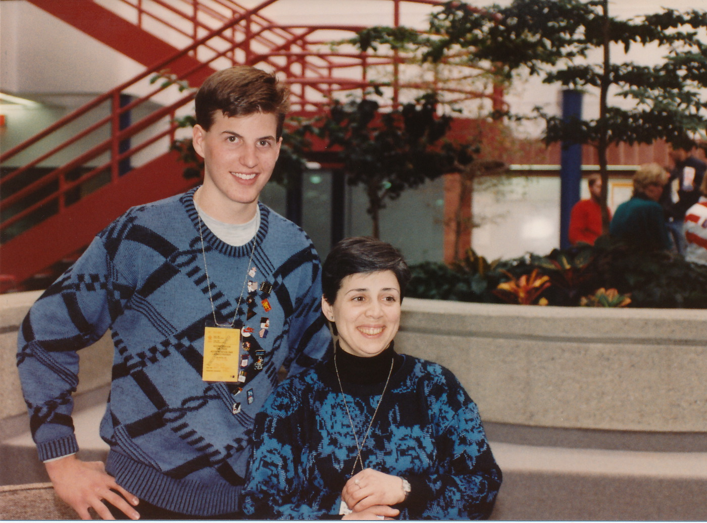 Jeff with Irina Rodnina, Olympic Gold Medalist, 1988