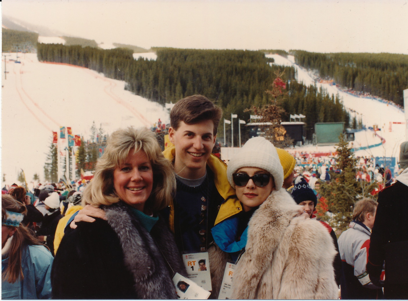 Jeff with Carol Brown and Emma Samms in Calgary