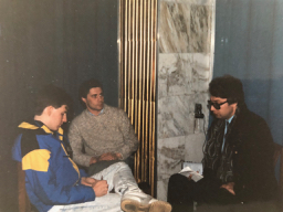 Jeff being interviewed in Leningrad, 1988