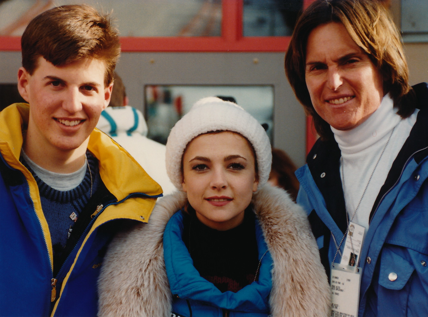 Jeff with Emma Samms and Bruce Jenner in Calgary