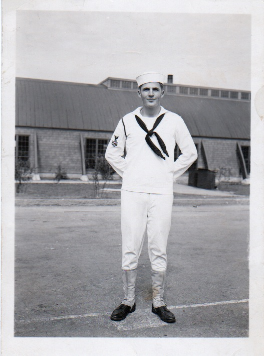 Jeff's father in the U.S. Navy during World War II