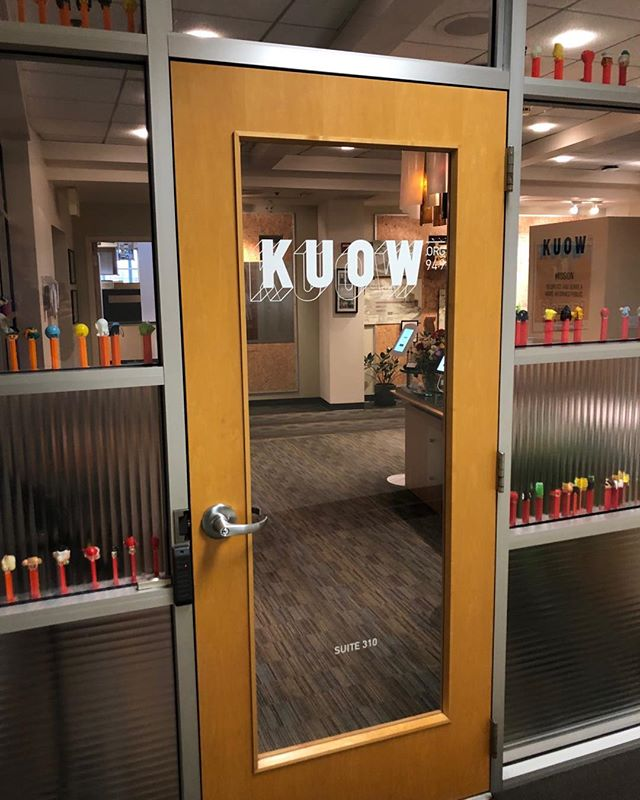 A fantastic morning at @kuow where they kindly recorded an interview with me for @bbcworldservice. Thanks to the @kuow crew and Asya Fouks and Tom Harding Assinger at #BBCOutlook. I'll let you know the broadcast date! #warheadmemoir