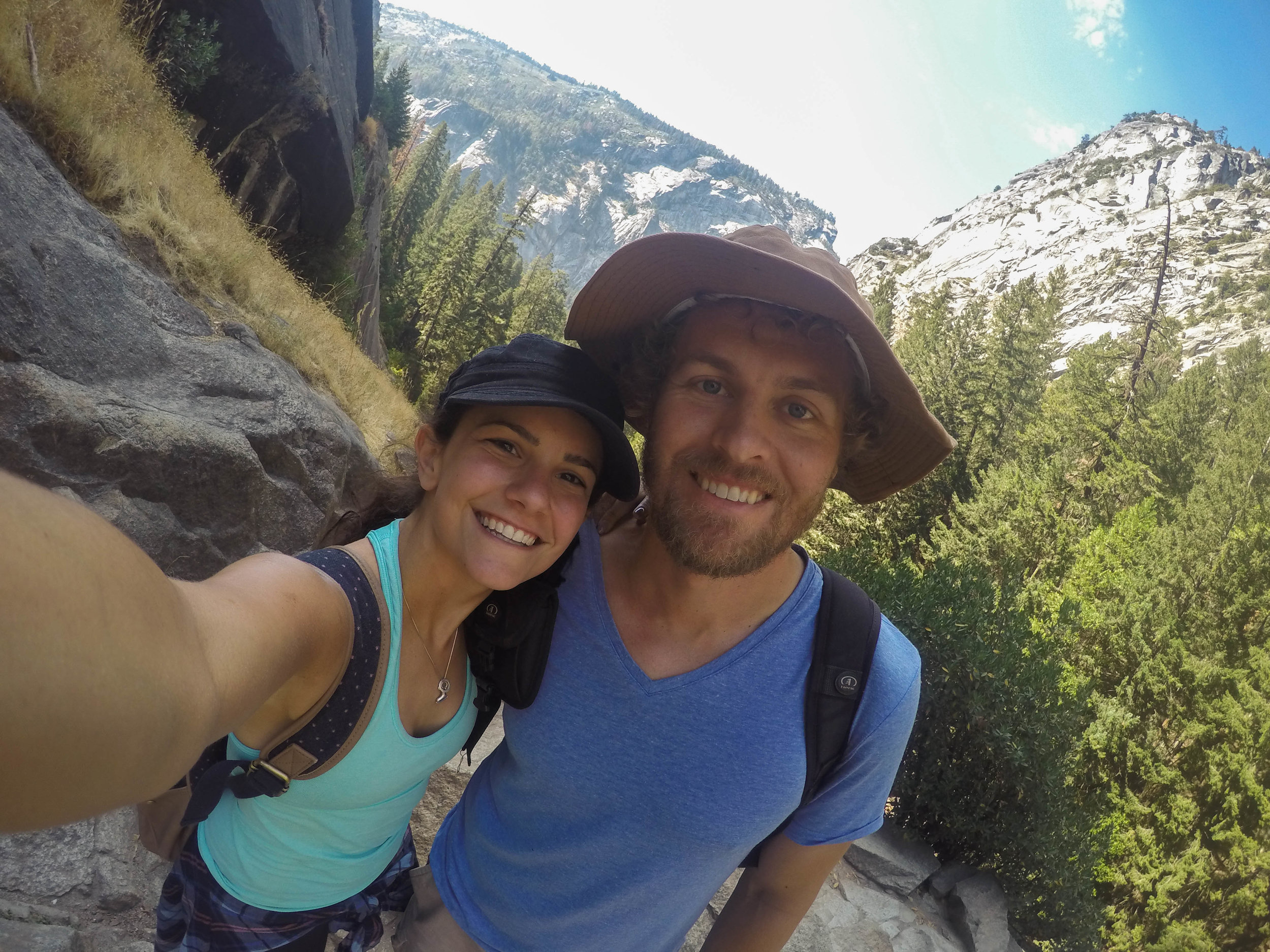 First time at Yosemite together, hiking to Vernal Falls!