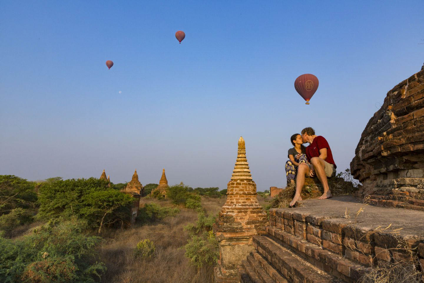 Balloons Over Bagan - one of the best experiences we've had in life was to watch baloons fly over 2,000 temples while the sun was rising.