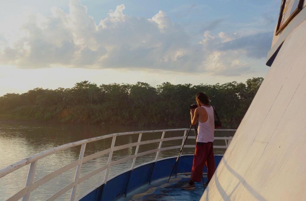 Hyperlapse from a boat in the Amazon River