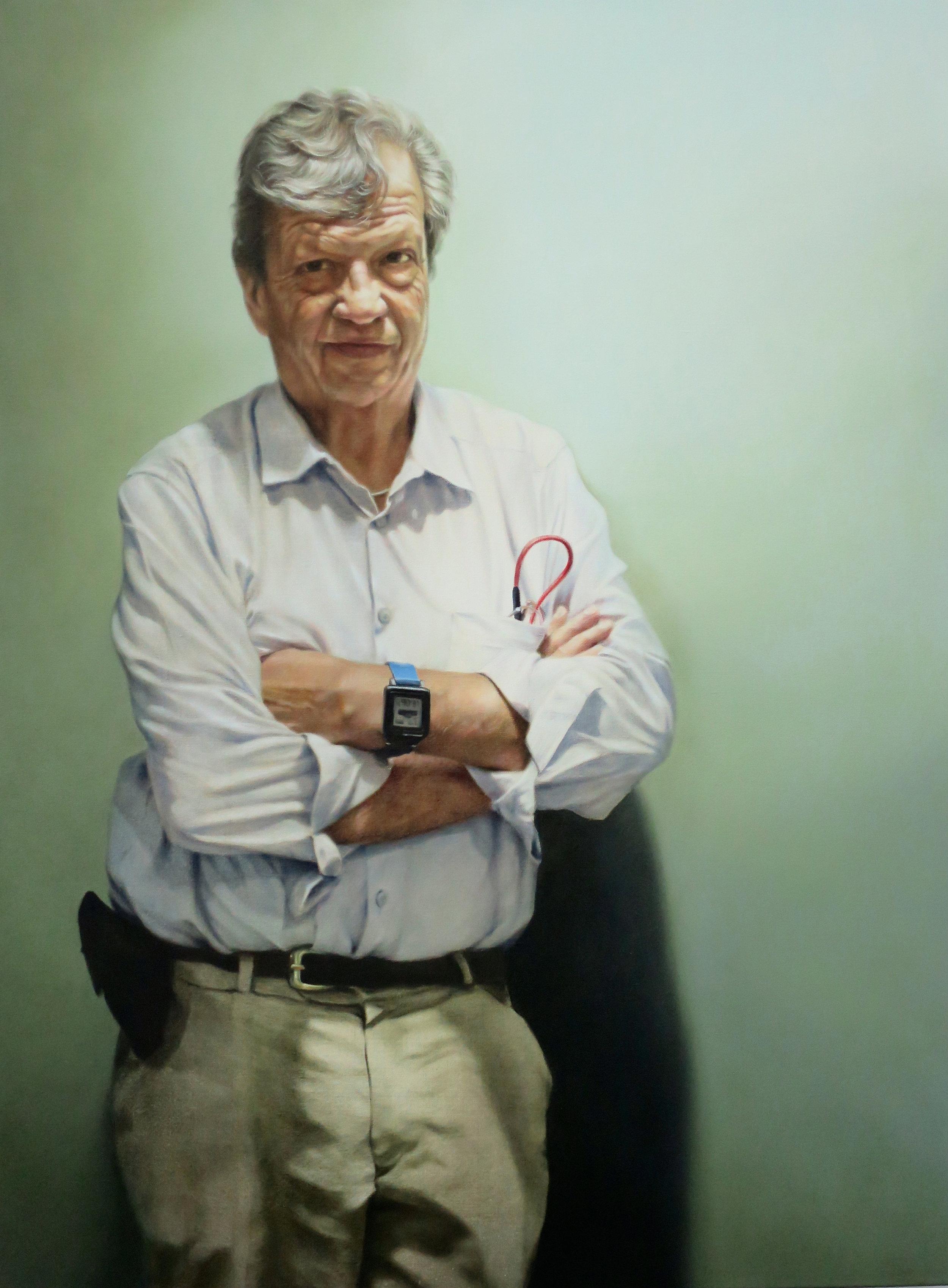 Professor Gordian Fulde, Oil, 92 x 122cm,  $6,500