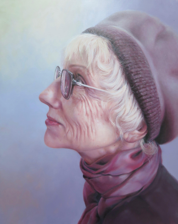 Older (Self Portrait), Framed, 40 x 50cm,  $800